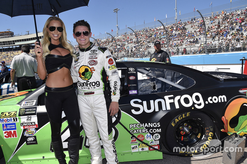 Gray Gaulding, BK Racing, Toyota, mit Monster-Girl