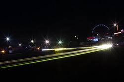 Trailing lights at night