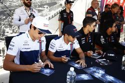 Lance Stroll, Williams, Felipe Massa, Williams, alongside Esteban Ocon, Force India, Sergio Perez, Force India