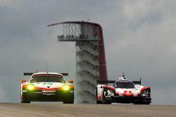 #2 Porsche Team Porsche 919 Hybrid: Timo Bernhard, Earl Bamber, Brendon Hartley, #91 Porsche Team Po