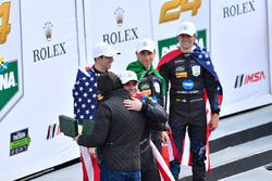 Race winners #10 Wayne Taylor Racing Cadillac DPi: Ricky Taylor, Jordan Taylor, Max Angelelli, Jeff Gordon with Dario Franchitti