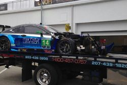 #14 3GT Racing Lexus RCF GT3 crash damage: Scott Pruett, Ian James, Gustavo Menezes, Sage Karam