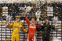 Podium Nations cup: Race winner Sebastian Vettel; second place Team USA-NASCAR with Kyle Busch and K