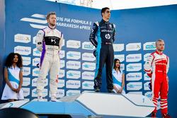 Podium: Race winner Sébastien Buemi, Renault e.Dams; second place Sam Bird, DS Virgin Racing; third