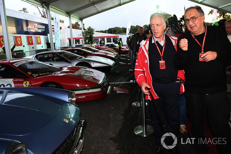 Sergio Marchionne, CEO FIAT and Piero Lardi Ferrari, Ferrari Vice President at Ferrari 70th Anniversary