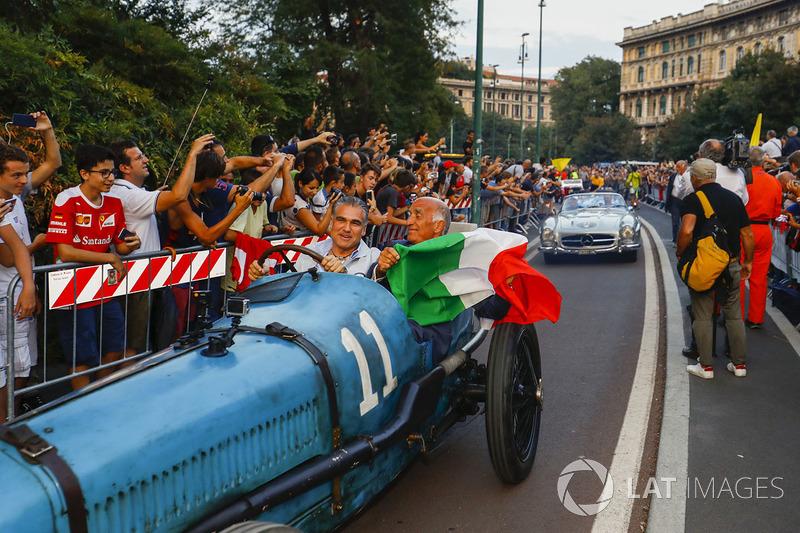 Bugatti T35, en el desfile de Milán