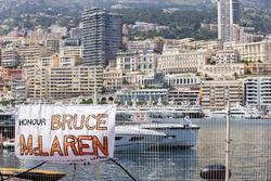 Fan's banner in honour of Bruce McLaren