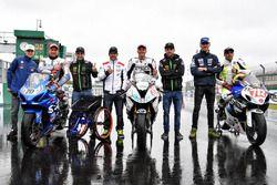 Johann Zarco, Jonas Folger, Cal Crutchlow, Loris Baz with Handy race riders