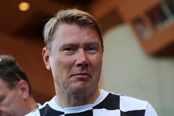 Mika Hakkinen en el partido de fútbol World Stars