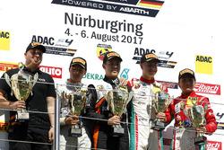 Podium: Race winner Felipe Drugovich, Van Amersfoort Racing, second place Lirim Zendeli, Mücke Motorsport, third place Juri Vips, Prema Powerteam, best Rookie Enzo Fittipaldi, Prema Powerteam