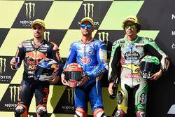 Polesitter Mattia Pasini, Italtrans Racing Team, second place Miguel Oliveira, Red Bull KTM Ajo, third place Franco Morbidelli, Marc VDS