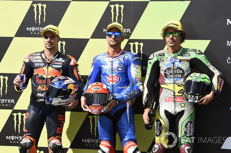 Polesitter Mattia Pasini, Italtrans Racing Team, second place Miguel Oliveira, Red Bull KTM Ajo, third place Franco Morbidelli, Marc VDS
