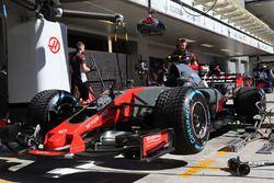 La voiture de Kevin Magnussen, Haas F1 Team VF-17