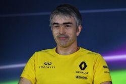 Nick Chester, directeur technique Renault Sport F1 Team en conférence de presse