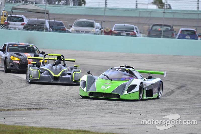 #57 FP2 Saker driven by James Cunning & Dan Moon of Saker Racing, #151 FP1 Norma M20FC CN driven by Sam Tawfik & Chris Hall of LMP Motorsports