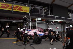 Sahara Force India ptactice pit stops
