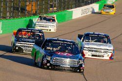 Harrison Burton, Kyle Busch Motorsports Toyota, Brandon Jones, Chevrolet, Josh Reaume, Chevrolet