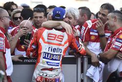 Podio: il terzo classificato Jorge Lorenzo, Ducati Team, Gigi Dall'Igna, General Manager Ducati Team