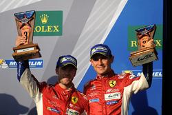 LMGTE Pro podio-. tercer lugar Davide Rigon, Sam Bird, AF Corse