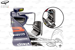 Red Bull RB13 bargeboard comparison, Singapore GP