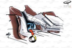 Diffuseur de la McLaren MP4-15 (échappement)