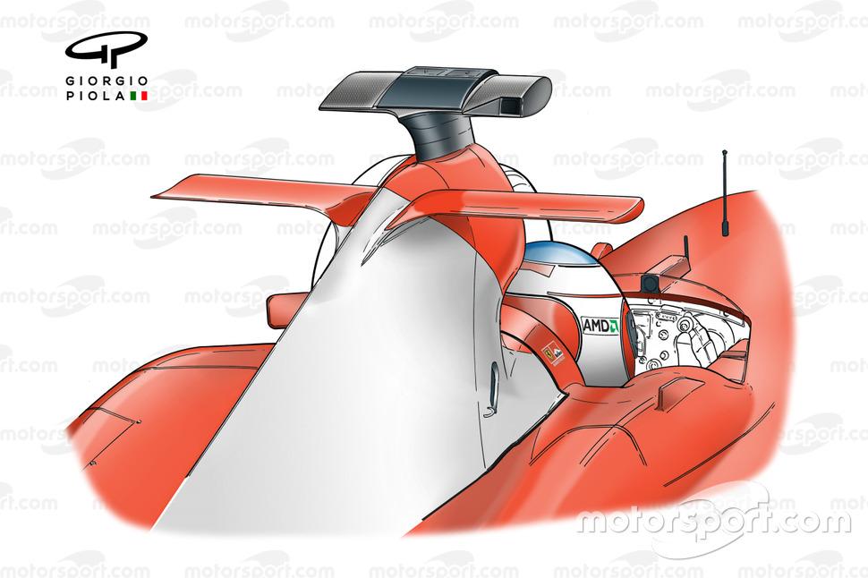 Ferrari F2004 airbox mid-wing