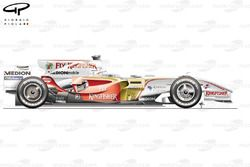 Force India VJM01 2008 side view