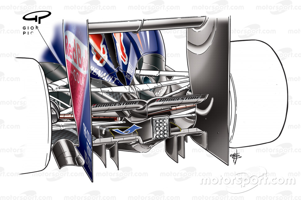 Red Bull RB5 2009 dubbele diffuser detail