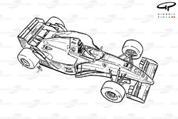 Vue d'ensemble de la Ferrari 412T2 (647)