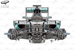 Le châssis de la Mercedes F1 W07