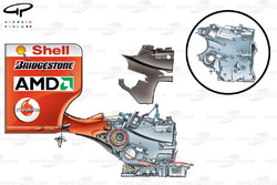 Ferrari F2004 (655) 2004 gearbox and rear wing assembly