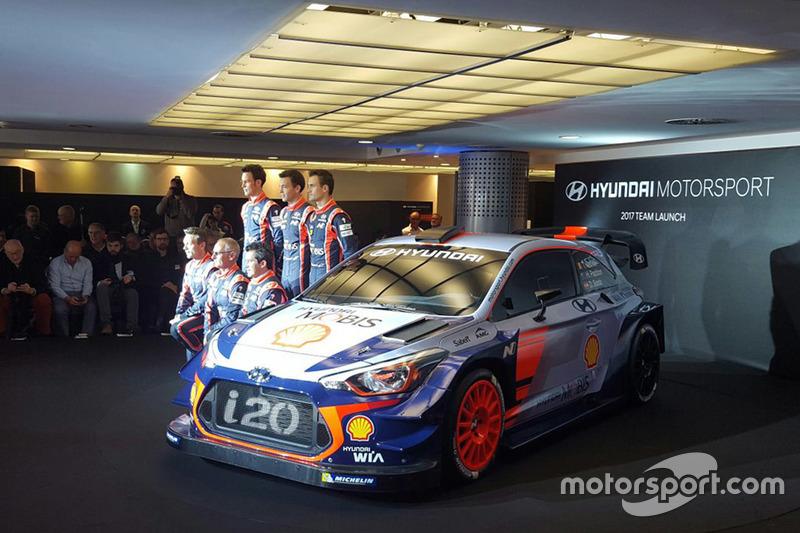 Dani Sordo, Hayden Paddon, John Kennard, Marc Marti, Nicolas Gilsoul, Thierry Neuville, Hyundai Moto