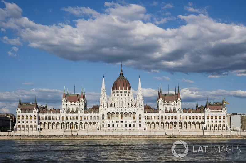 Una vista del edificio del Parlamento Húngaro