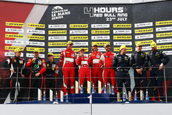 GTE Podium: Race winner #55 Spirit of Race, Ferrari F488 GTE: Duncan Cameron, Matt Griffin, Aaron Sc