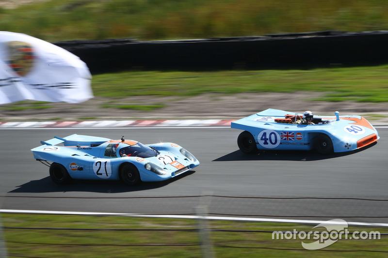 Jan Lammers met de Porsche 917 K, Gijs van Lennep met de Porsche 908/3