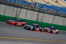 Ryan Blaney, Team Penske Ford, Erik Jones, Joe Gibbs Racing Toyota, and Kyle Busch, Joe Gibbs Racing