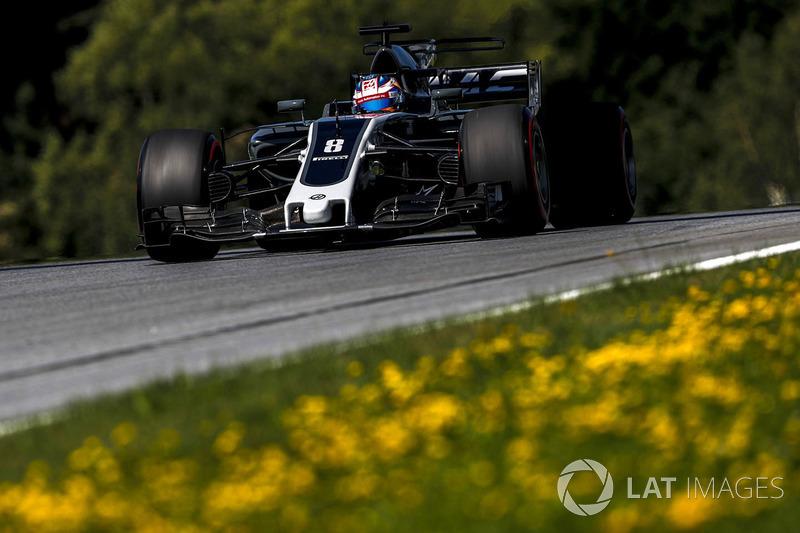 Grosjean pontuou por cinco vezes: Bahrein (8º), Espanha (10º), Mônaco (8º), Canadá (10º) e Áustria (6º). Ele está em 13º no campeonato.