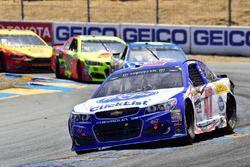 A.J. Allmendinger, JTG Daugherty Racing Chevrolet, Jimmie Johnson, Hendrick Motorsports Chevrolet, D