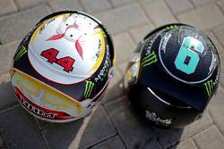 Helme von Nico Rosberg, Mercedes AMG F1, und Lewis Hamilton, Mercedes AMG F1