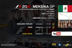 F1 2016 Sanal Turnuva Meksika GP