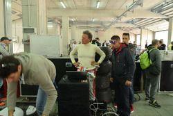 Gabriele Tredozi nel box di Imola