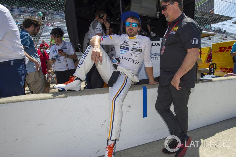 Fernando Alonso, Andretti Autosport Honda con el dueño Michael Andretti
