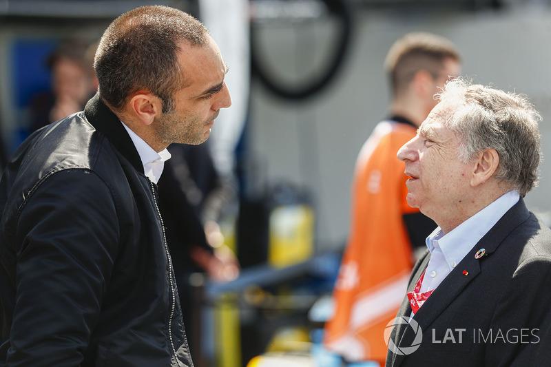Cyril Abiteboul y Presidente de la FIA Jean Todt