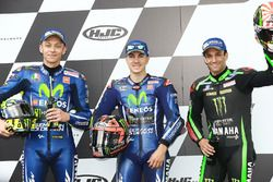Sıralama turları ilk üç: Pole Maverick Viñales, Yamaha Factory Racing, 2. Valentino Rossi, Yamaha Fa