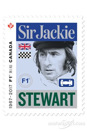 Sir Jackie Stewart stamp