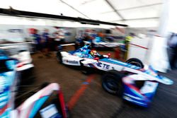 Robin Frijns, Amlin Andretti Formula E Team, pulls out of the garage