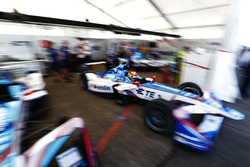 Robin Frijns, Amlin Andretti Formula E Team, pulls out of the garage