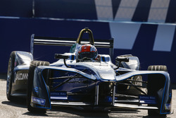 James Rossiter drives the Formula E show car