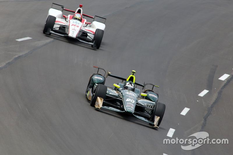 Эд Карпентер, Ed Carpenter Racing Chevrolet, и Тристан Вотье, Dale Coyne Racing Honda