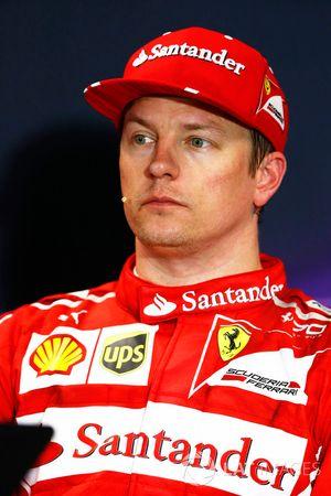 Basın toplantısı: Pole Kimi Raikkonen, Ferrari